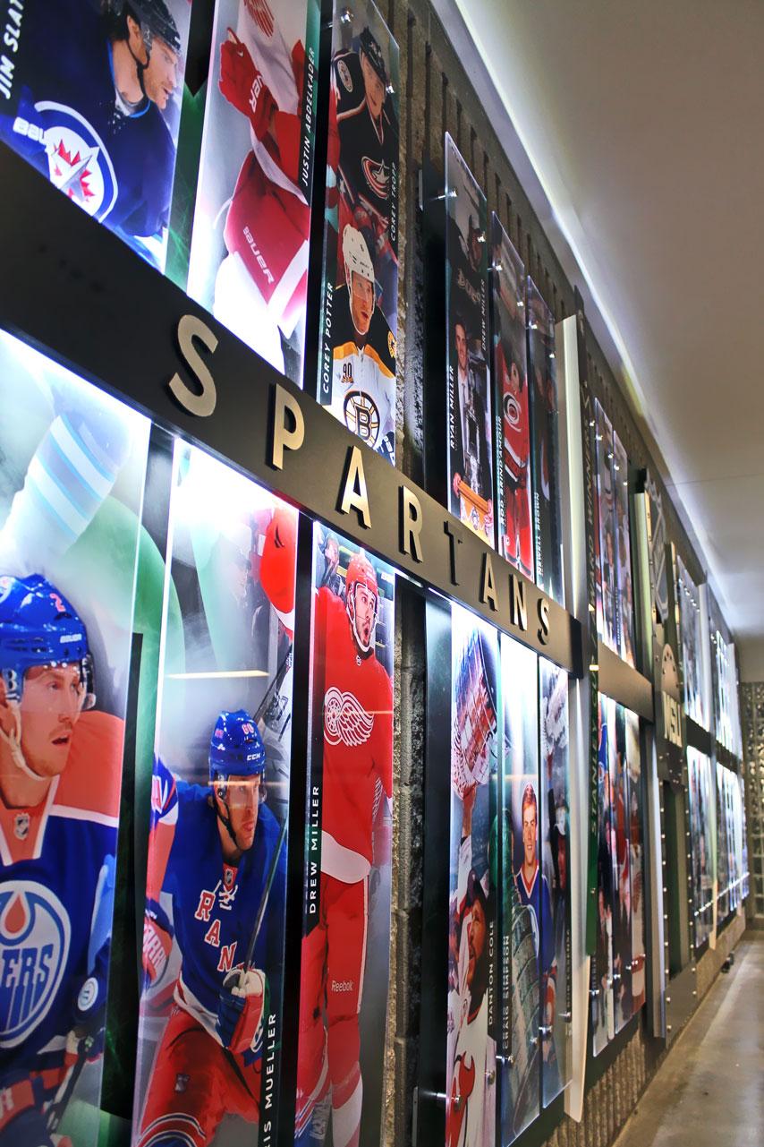 MSU Hockey NHL Display 01