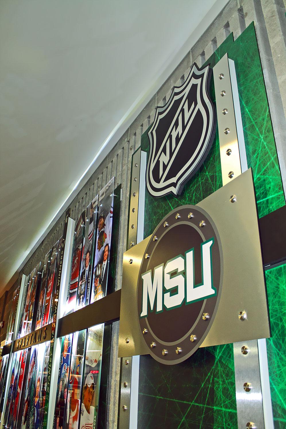 MSU Hockey NHL Display 02