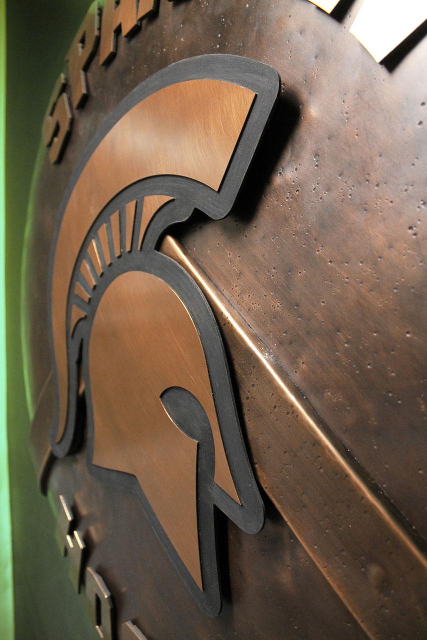MSU Hockey Backlit Shield 04