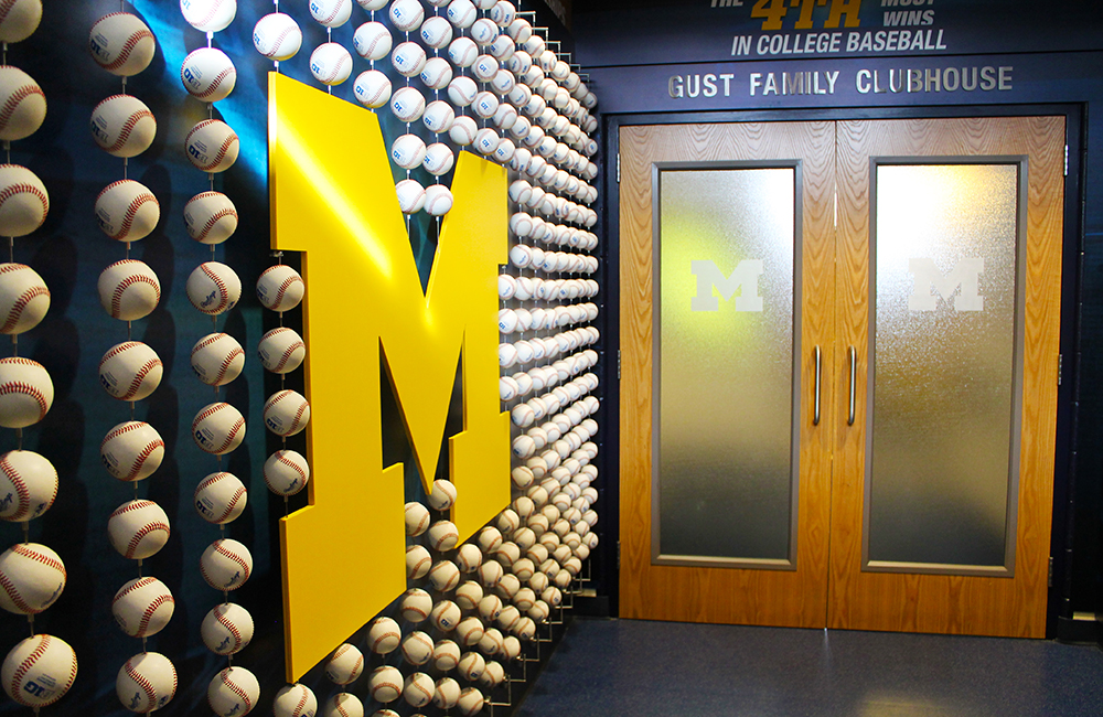UM Baseball Records Display 10