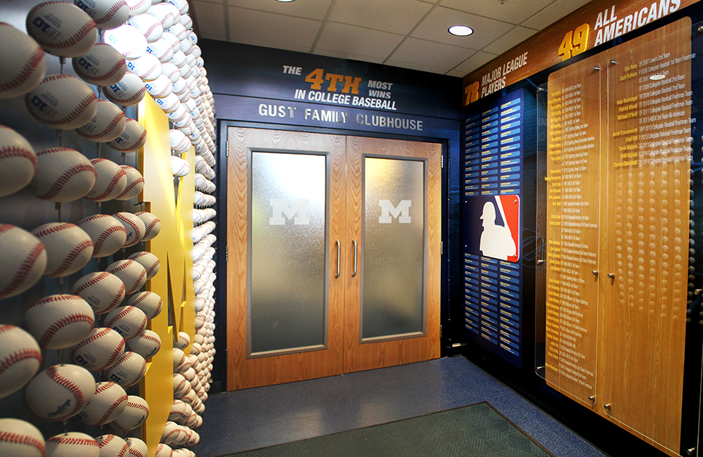 UM Baseball Records Display 22