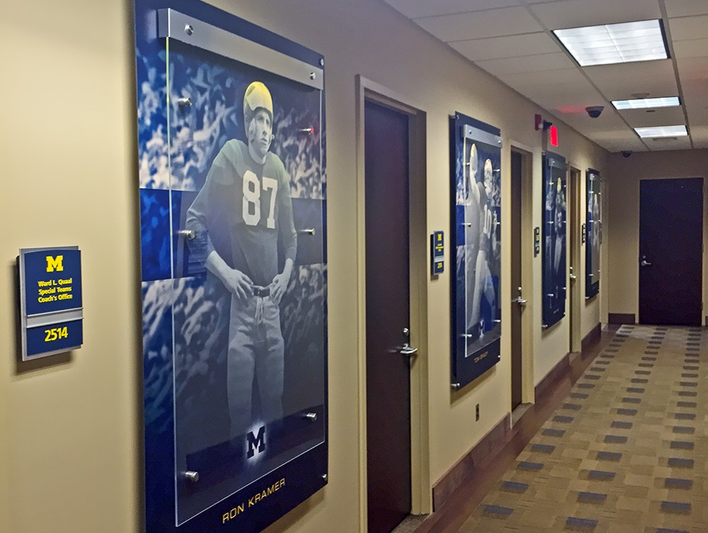 UM Schembechler Wall Displays 02