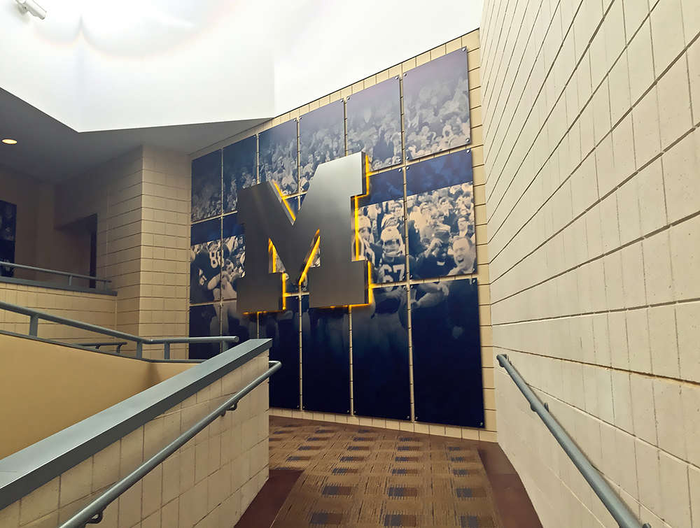 UM Schembechler Wall Displays 03