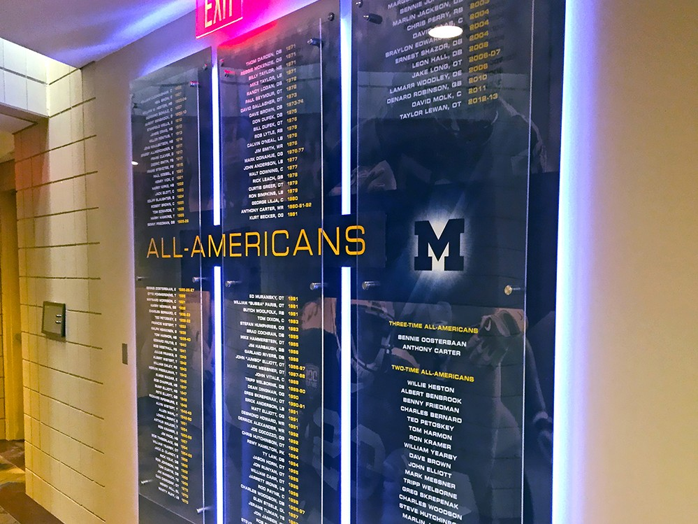 UM Schembechler Wall Displays 06