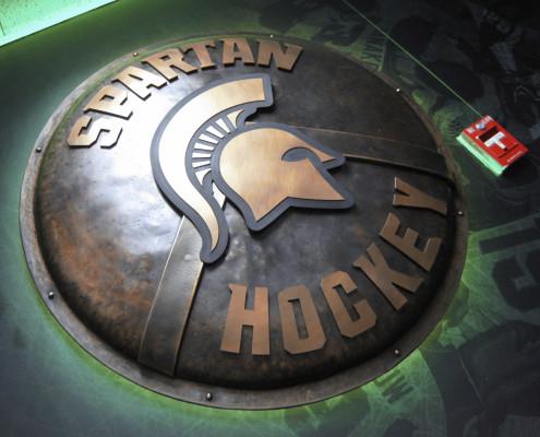 MSU Hockey Spartan Shield 01