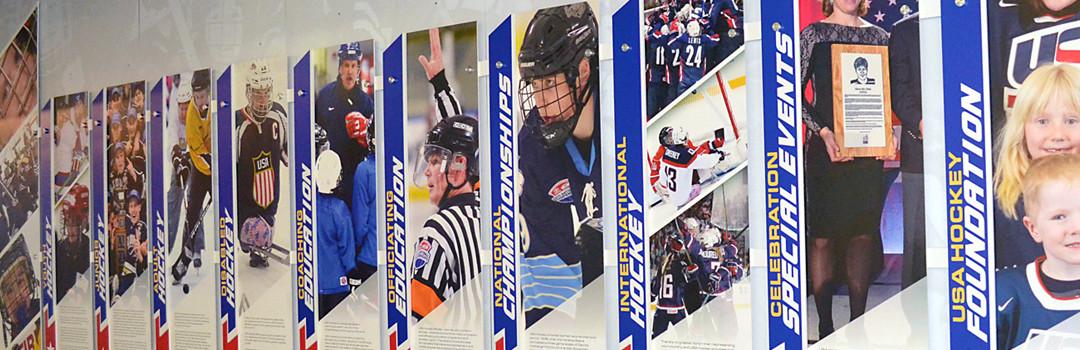 New Custom Wall Displays Showcase NHL Stars and World Champions at USA Hockey Arena