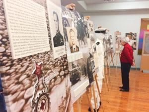 World War II exhibit at University Commons with University of Michigan